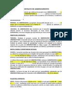 Modelo de Contrato de Alquiler 2
