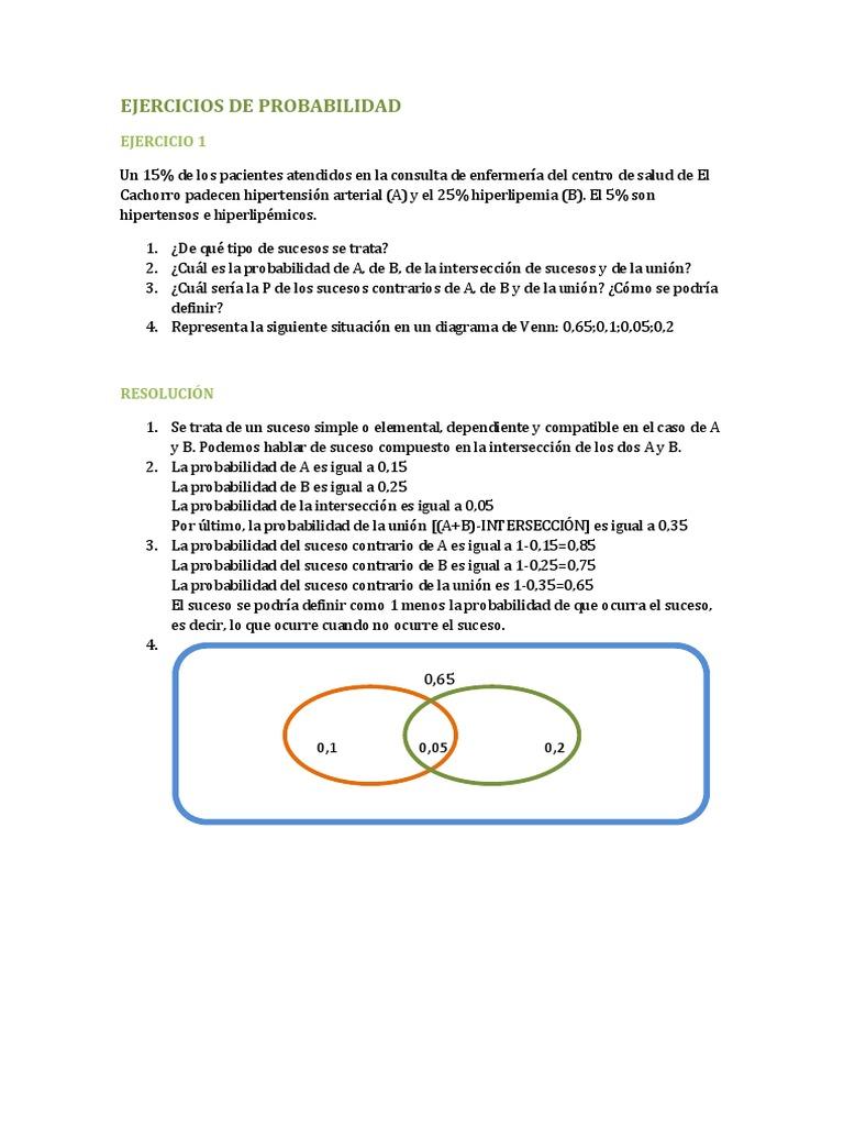 Ejercicios de probabilidadcx ccuart Choice Image
