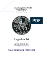 Münzhandlung Ritter Lagerliste 84