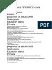 Programas de Estudio 2009