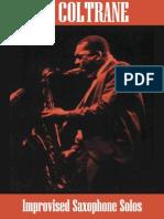 Saxophone John Coltrane Improvised Saxophone
