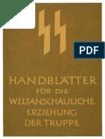 SS - Handblätter für die weltanschauliche Erziehung der Truppe - Themen 1-5 (Thema 4 unvollständig, 33 S., Scan, Text).pdf