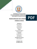 Biodivercificacion en La Antartida