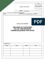 Manual de Soporte Resumen de Funciones de Los Cablemodems1