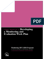 80123549 Monitoring and Evaluation of Work Plans