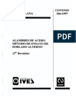 0566 Alambres de Acero, Metodo de Ensayo de Doblado Alterno