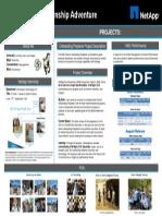 NetApp Intern Showcase PosterBoard