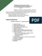 Estructura Perfil de Proyecto e Informe Final
