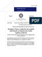 Michigan Finance Authority Successfully Sells Bonds on Behalf of the Public Lighting Authority