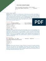 Ejercicio Nº7 Uso de Conectores y Plan de Redacción, Terminos Excluidos