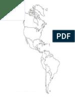 Mapa Político de América(Mudo)