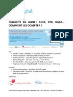 Club Digital - Compte Rendu - Conférence Publicité en Ligne