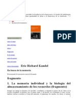 Eric Richard Kandel - En Busca de La Memoria