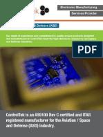 ControlTek - Aviation / Space & Defense (ASD) Brochure