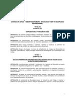 Codigo de Etica y Deontologia Del Bioanalista en Su Ejercicio Profesional