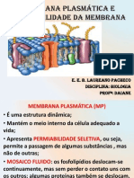 Membrana Plasmática e Permeabilidade Da Membrana