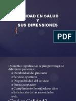 Marco Conceptual y Dimensiones de La Calidad 2014