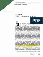 Octavio Paz - El Uso y La Contemplación