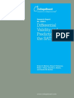 Differential Validity and Prediction of the SAT