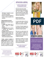 Doc151230 Diptico Hipoacusia Laboral, Consejos Practicos Para Su Deteccion y Prevencion
