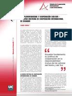 Cooperacion Internacional en Ecuador