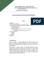 Causal de Indebida Aplicación - Erronea Interpretacion y Falta de Aplicacion - Penal