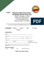AHS Pie Baking Contest Form Ru