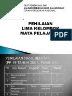 1. Penilaian 5 Kelompok Mapel