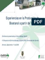 Experiencias en la Produccion de bioetanol a partir de yuca