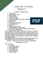 Recetas de Cocina Sopas
