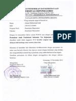 Surat Pernyataan Ketua Peneliti Fix-bbm