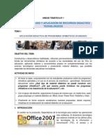 Aplicacion Didactica de Programas Ofimaticos 2