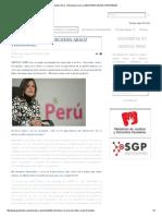 Entrevista a Mercedes Aráoz