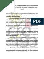 Declaración Pública Crecer Medicina en Apoyo Al Paro Nacional Convocado Por La Federación Nacional de Trabajadores de La Salud