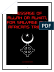 MESSAGE OF ALLAH OR ALHIM, FOR SALVAGE OF AFRICANS TRIBES