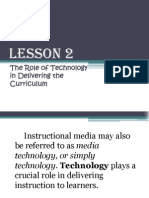 Powerpoint Presentation in Lesson 2 the Role of Technology in Delivering the Curriculum by Sheena E. Bernal