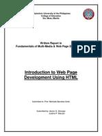 Written Report in HTML