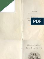 Elisens und Sophiens Gedichte