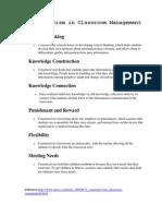 Constructivism in Classroom Management by Sheena Bernal
