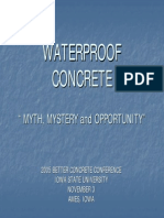 Waterproof Concrete