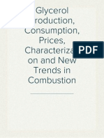 Glycerol Production, Consumption, Prices, Characterization and New Trends in Combustion