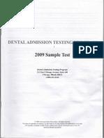 Dat Sample Test 2009