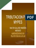 Tributacion Para MYPES Walter Galloso
