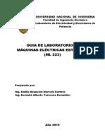 Guía de Laboratorio de Máquinas Eléctricas Estáticas Ml223 (21.03.2014)