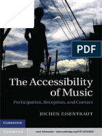 The Accessibility of Music Participation, Reception and Contact
