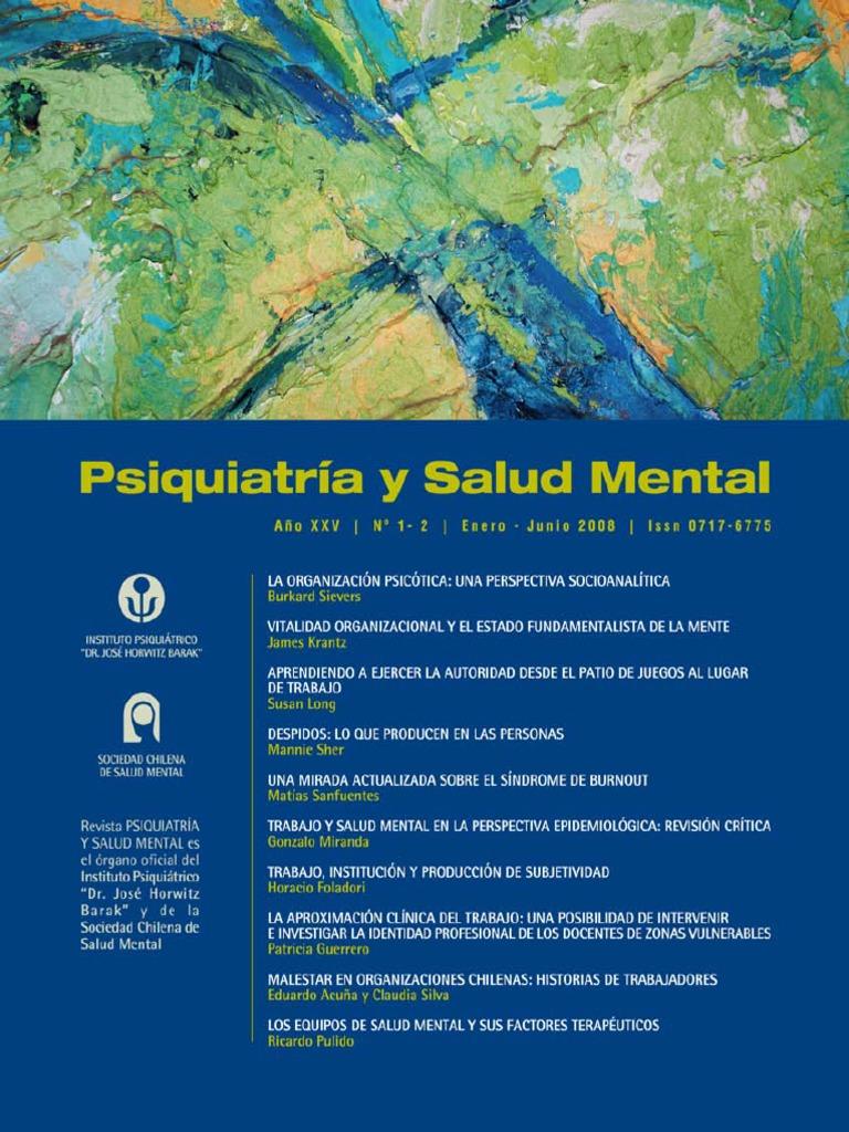 Revista Psiquiatria y Salud Mental Año XXV Nº1-2 2008