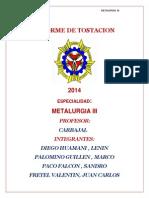 Informe de Tostacion