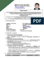 Currículum Vitae Alberto 2014