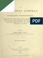 Evangelion Da-mepharreshe [Curetonian] - Agnes s. l. Notes