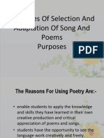 LGA Principles of Selection and Adaptation of Song And